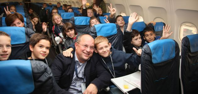 Učenici u pilotskoj kabini