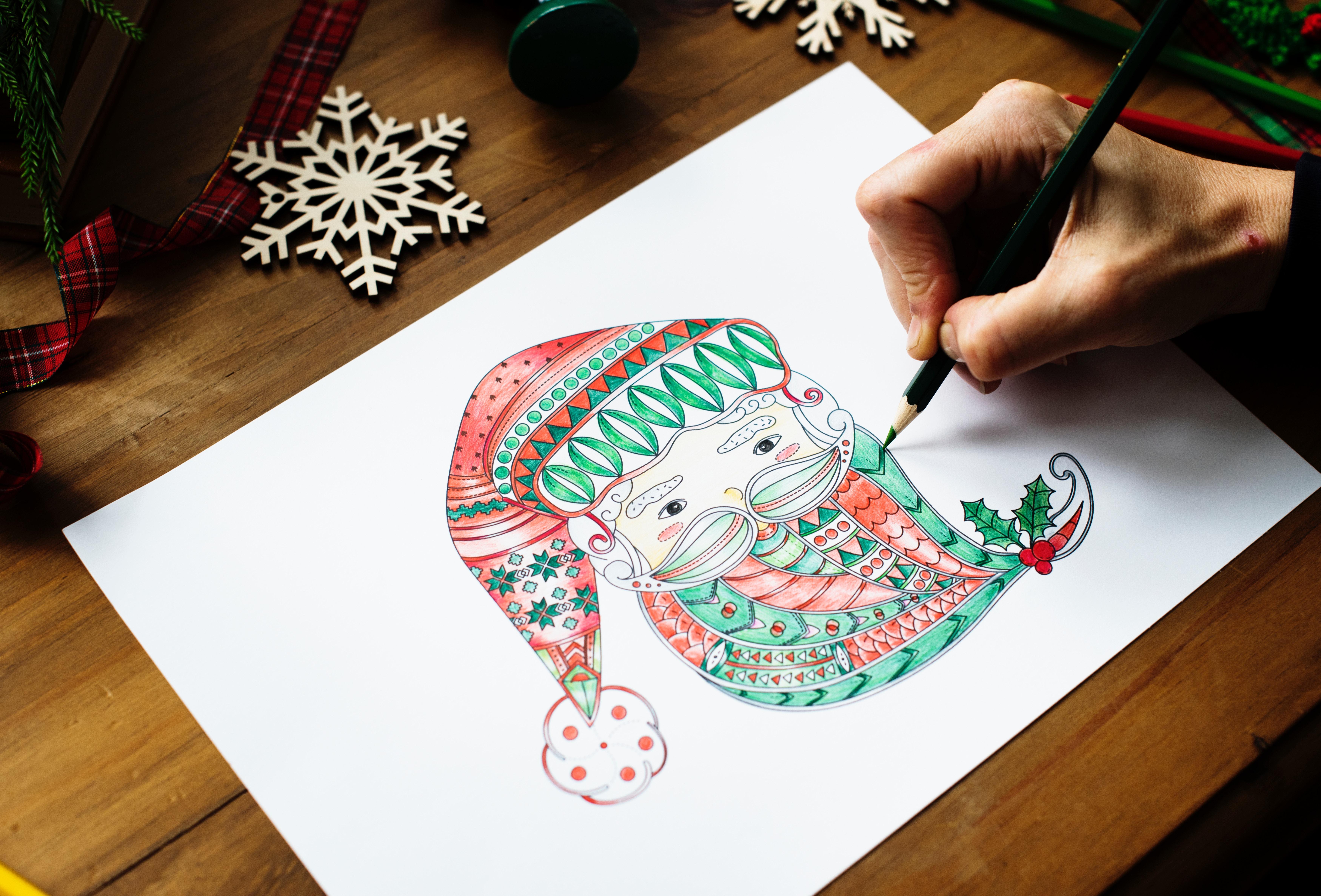djed mraz projekt ukrašabvanje crtanje božić