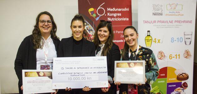 Nestlé dodijelilo 10.000 kuna za daljnju edukaciju mladih znanstvenika