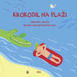 Krokodil na plaži