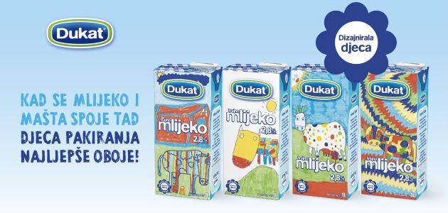 Dječji crteži kravica na novim pakiranjima Dukat trajnog mlijeka
