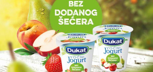 Novi voćni jogurt bez dodatka šećera