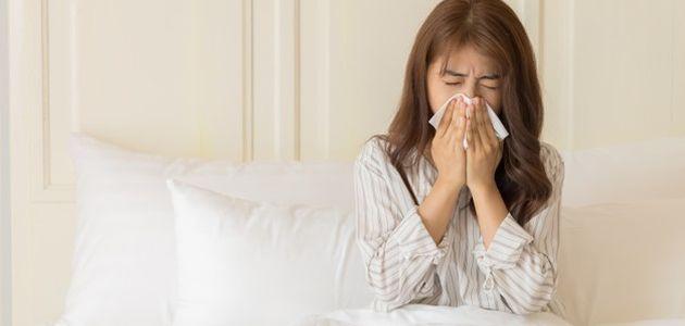 zena prehlada alergija